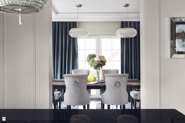 Widok z kuchni na jadalnię - zdjęcie od GSG STUDIO   interiors & design - Jadalnia - Styl Art- deco - GSG STUDIO   interiors & design
