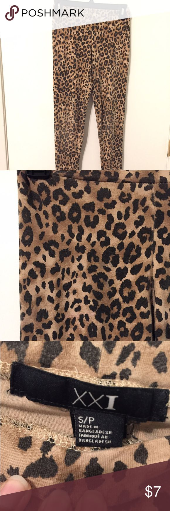 Forever 21 leopard leggings Forever 21 leopard leggings Forever 21 Pants Leggings