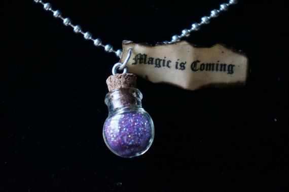 """Once Upon A Time Necklace -""""Magic is Coming"""" -Emma, Snow White, Evil Queen, Rumpelstiltskin on Etsy, $12.95"""