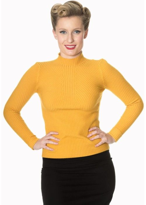Banned Let's Tango Jumper Mosterd sweater trui yellow geel