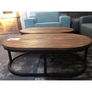 Ovale salontafel Teakhout
