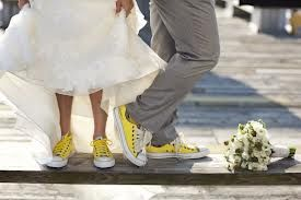wedding converse for the reception!