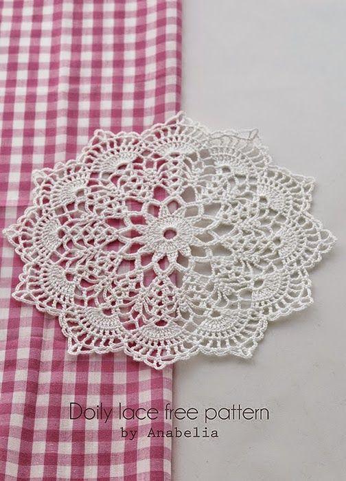 Crochet y dos agujas: Fina carpeta con patrón y paso a paso en fotos