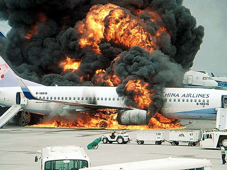 tragic fires in history | ... . The wing of the plane was hit, and the airplane caught on fire