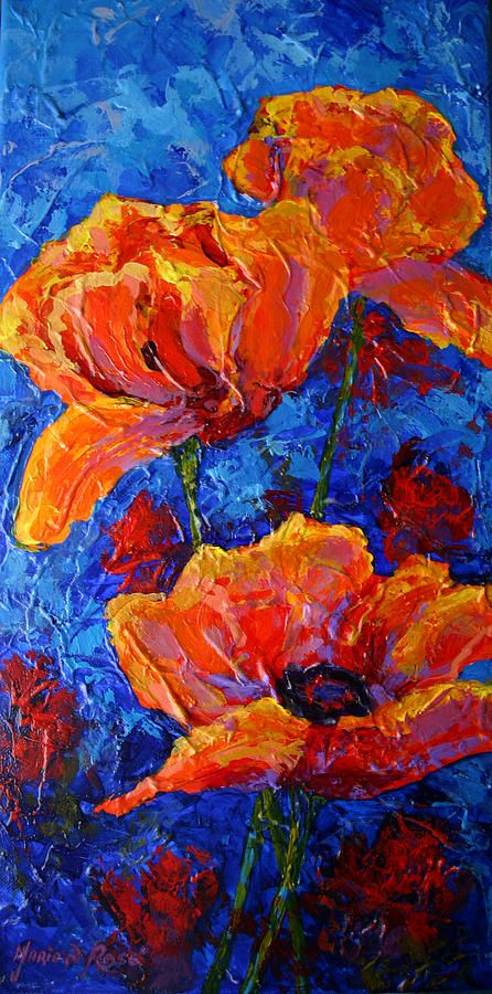 Poppies Painting - Poppies II by Marion Rose