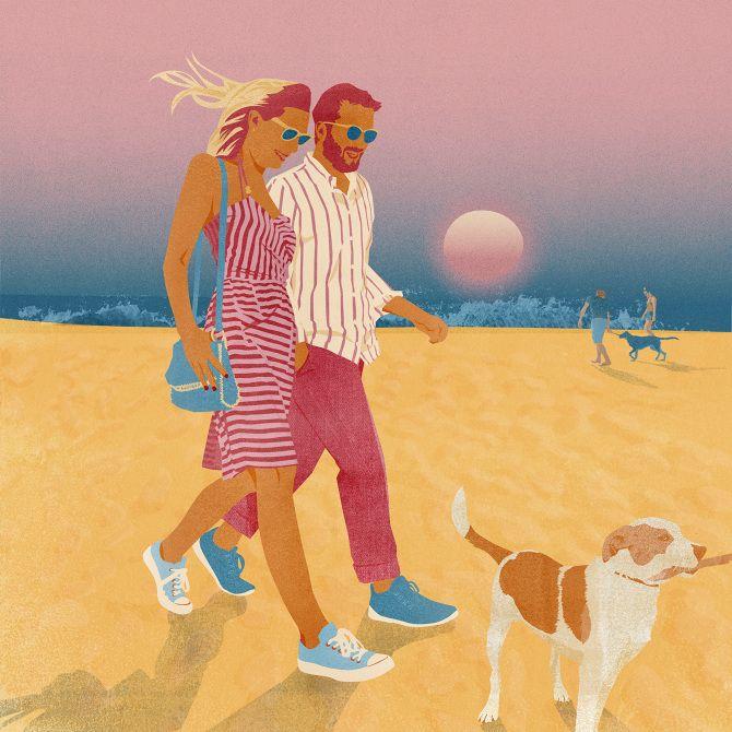 September for Mendola Artists annual calendar - Amy DeVoogd Illustration