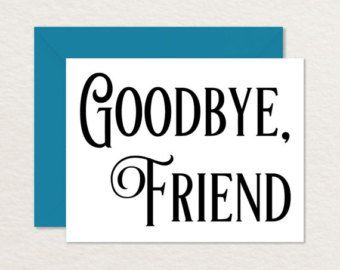 printable good bye cards