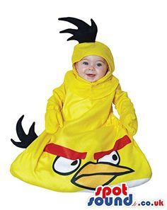 $+  Cute Yellow Angry Birds One-Piece Baby Size Plush Costume http://www.shopprice.com.au/angry+birds+costume