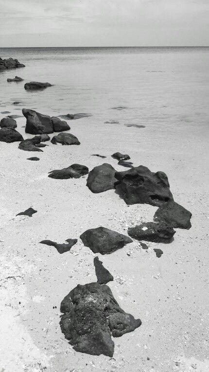 Rock and sea #bw