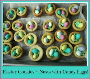 Easter Cookies ~ Nests with Candy Eggs | Macaroni Kid