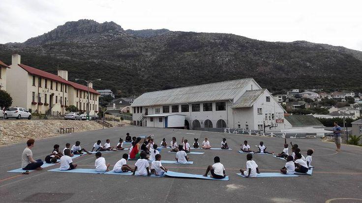 Kids Yoga at St. James Primary School in Kalk Bay