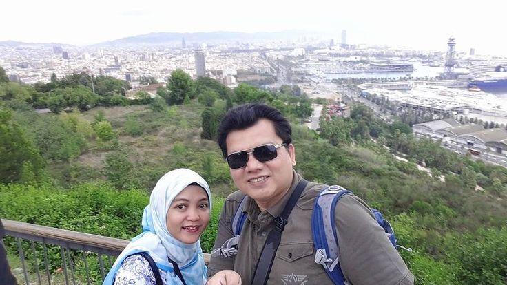 kak Nurina dan suami  Cintaku di Barceloooonnaaa...   #OriflameID #GoldCruiseORIFLAME2014 #dBCNatGoldCruise   — at Port de Barcelona.