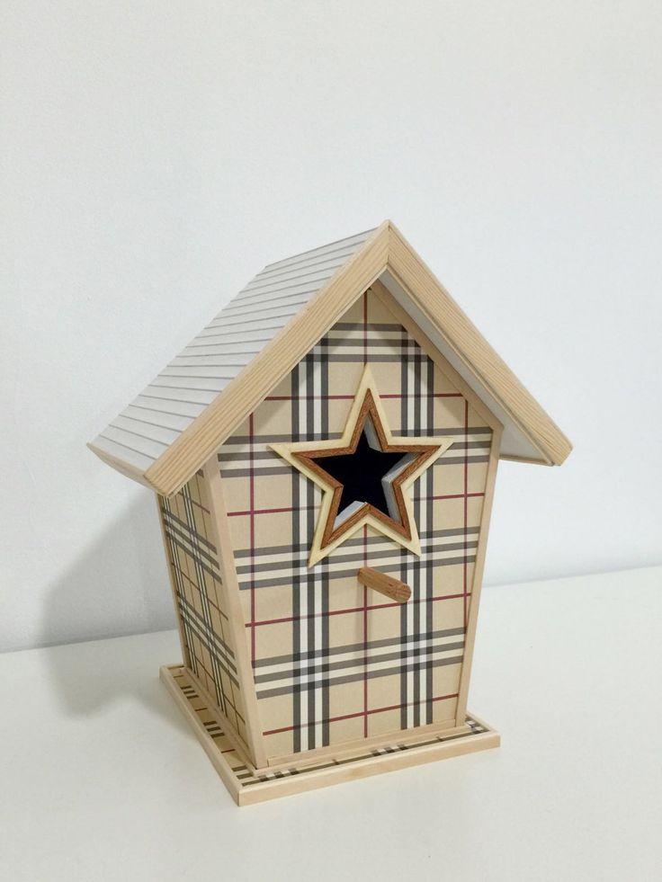 Casa de pájaros de madera personalizada 100%. Para decorar. de ColorfulWoodStore en Etsy