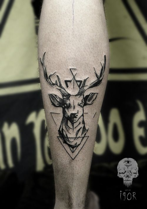 Deer tattoo by Igor Pereira @artofigor Más
