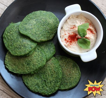 Spinach (Protein) Pancakes