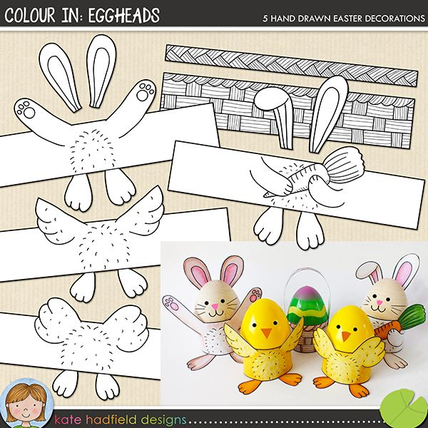 The Lilypad :: Printables :: Colour In: Eggheads