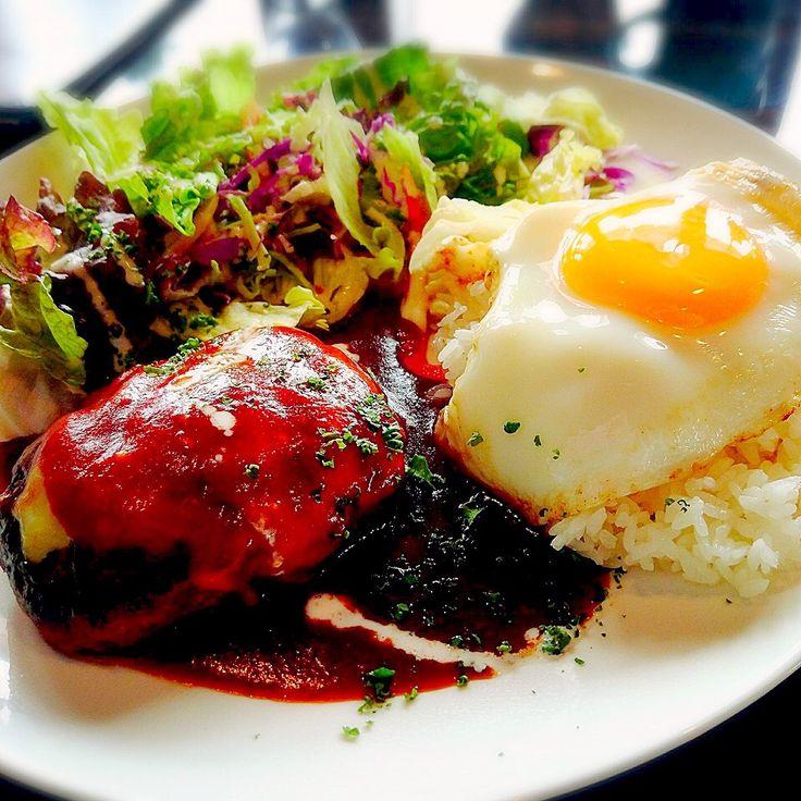 zeroweb boss's dish photo ハンバーグランチ | http://snapdish.co #SnapDish #ハンバーグ