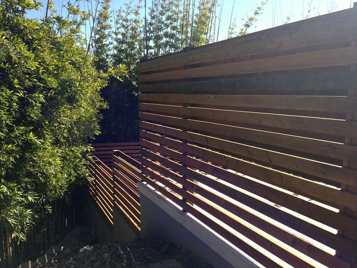 Horizontal Wood Slat Fence The Minimalist Living With In Design Ideas