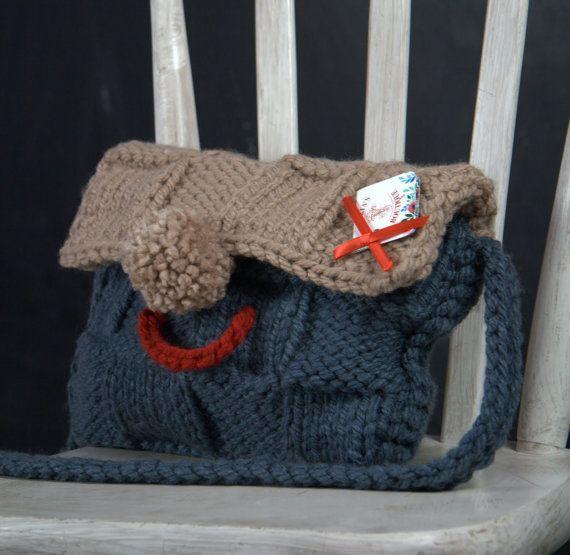 Boho bag handmade bags shoulder bag knit by VictoriasBoutiqueArt