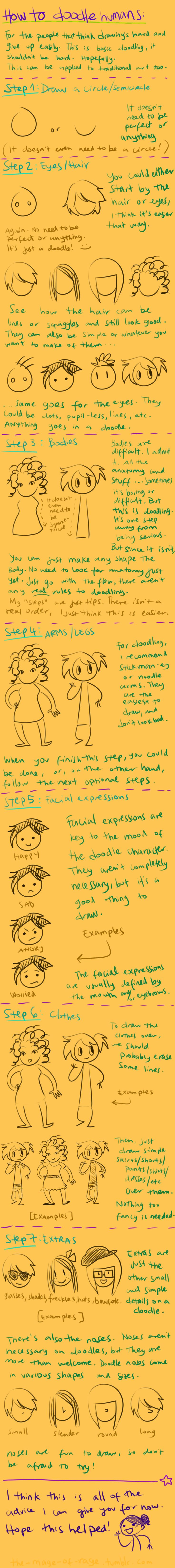 doodling tutorial by Mistakes13.devian... i need to up my doodling skills for the kids.