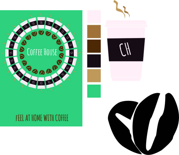 This is a poster I created for a none existing company. I stared by designing the coffee cup with the rectangle tool and adjusting the rectangles with the Direct section tool. I then created the steam from the coffee using the pen tool this was to illustrate the warmth and colour of the coffee. I created two coffee beans using the pen tool giving more relation to coffee. I created a slogan at the bottom of the poster which was to make the customers feel more welcome.