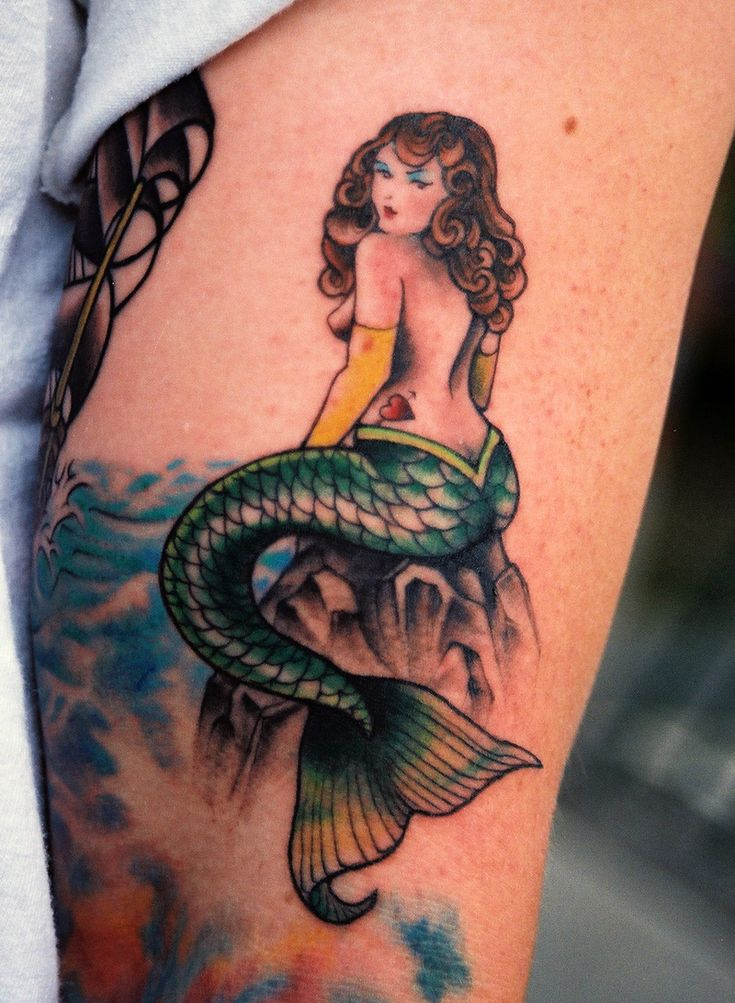 10 ideas about mermaid tattoo designs on pinterest for Mermaid tattoos pinterest