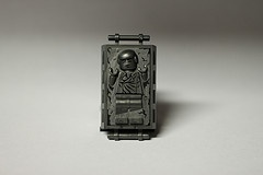 LEGO Han Solo In Carbonite - Read my review http://www.thebrickfan.com/lego-star-wars-slave-i-8097-review/