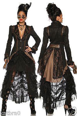 Gothic Steampunk Damenmode Jacken Mäntel Damenjacke Clubwear Abendmode schwarz in Kleidung & Accessoires, Damenmode, Jacken & Mäntel | eBay