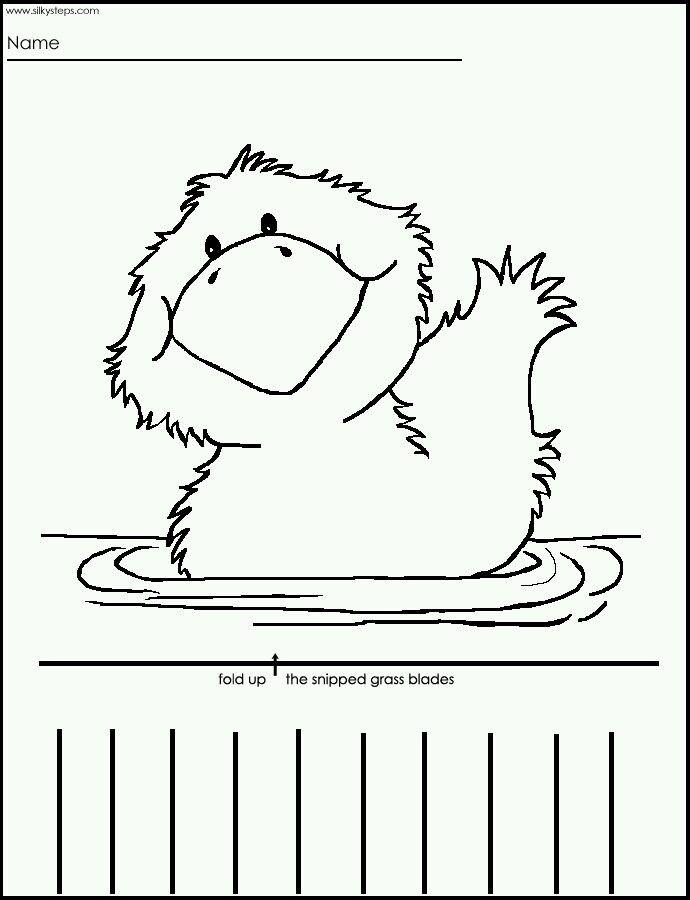 duck craft idea for kids crafts and worksheets for preschooltoddler and kindergarten - Printable Preschool Crafts