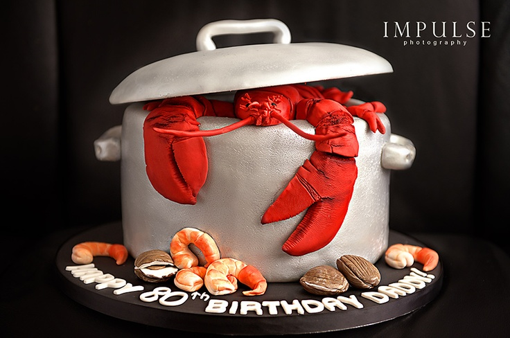 Juicy Desserts Lobster Cake - Now that's MY kind of cake #joescrabshack