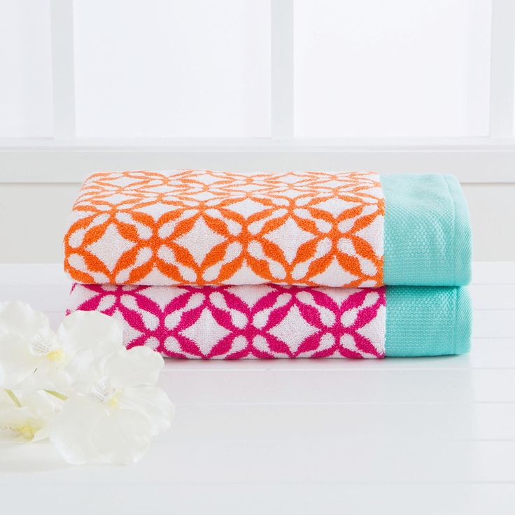 Brighten up your bathroom with our new Lola Towel Range. Match them with our Lola Bath Mat Range to create a brilliantly bright look.