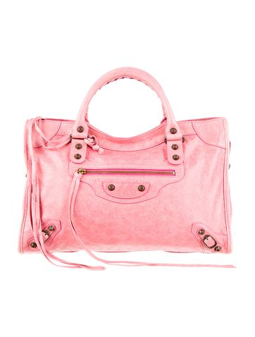 Think pink with this Balenciaga First Bag.