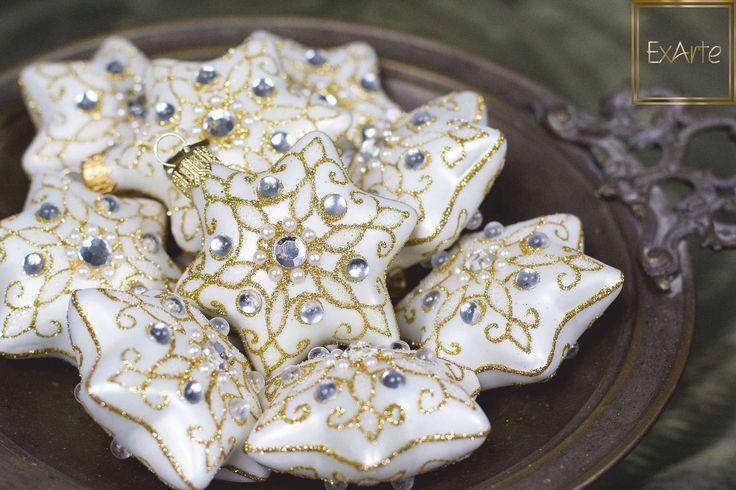 Inspiracje na Święta Bożego Narodzenia - szklane bombki choinkowe.  Please visit ExArte - our online shop with beautiful, hand crafted glass christmas ornaments :)