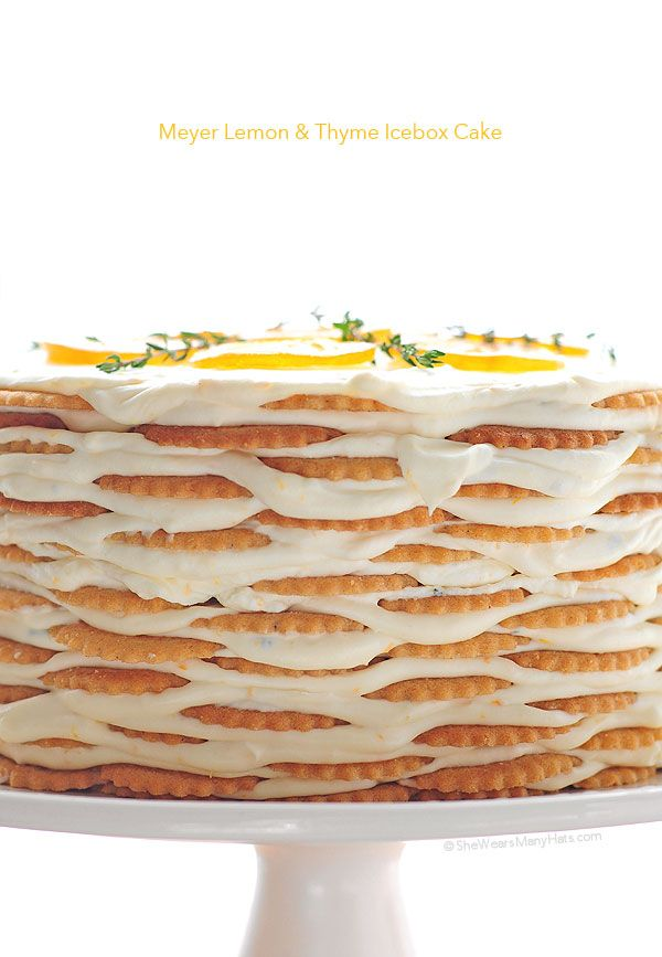 Meyer Lemon and Thyme Icebox Cake  by shewearsmanyhats #Cake #Lemon #Icebox