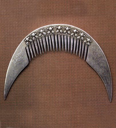 Myanmar | A Hair comb from the Karen people | Silver | 20th century