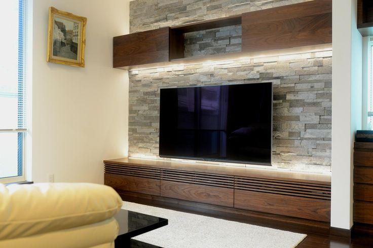 テレビボード 間接照明