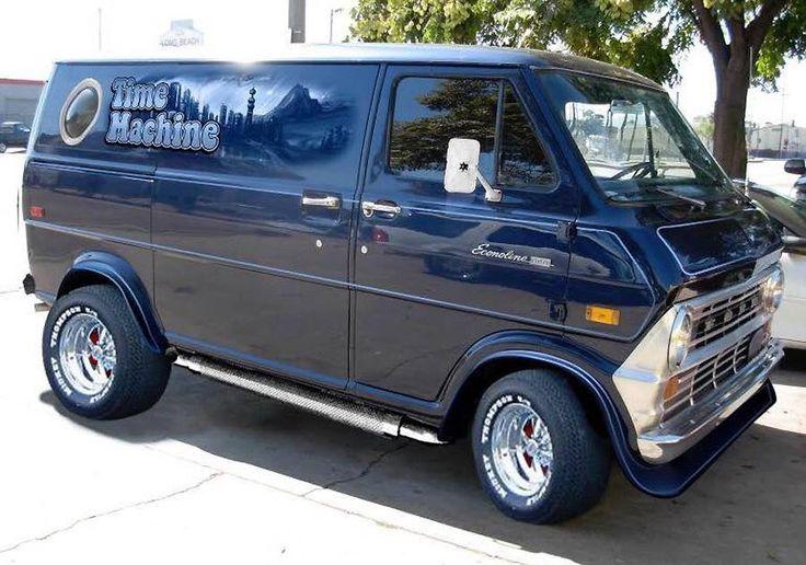 """""""Time Machine"""" Custom 70's Ford van"""