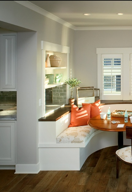 kitchen pass through built in booth - Kitchen Booth Ideas