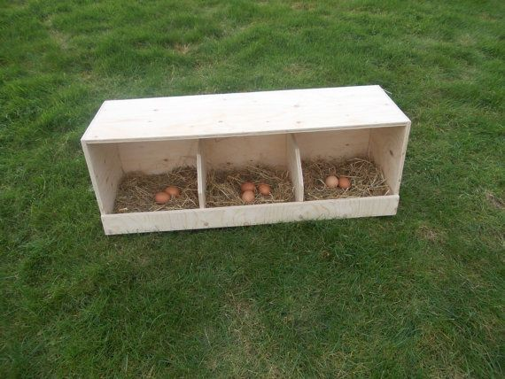 Chicken Nest Box Triple Universal Chicken/ Poultry Nest Box  Made from 12mm quality plywood   Size : 36 x 12 x 13  Other sizes available :-)