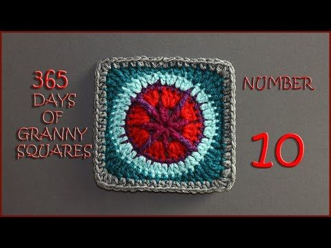 365 Days of Granny Squares Number 10 - YouTube