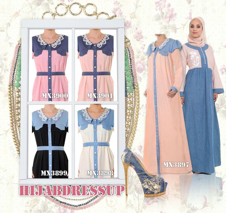 #Hijab #Dress #Denim #Cotton #Color #HijabDressUp