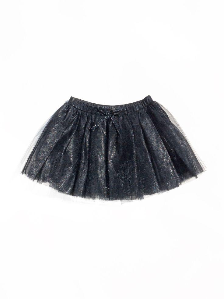 Metallic Tutu Skirt, METALLIC BLACK