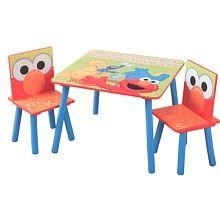 "Sesame Street Table & Chairs - Delta Enterprises - Toys""R""Us"