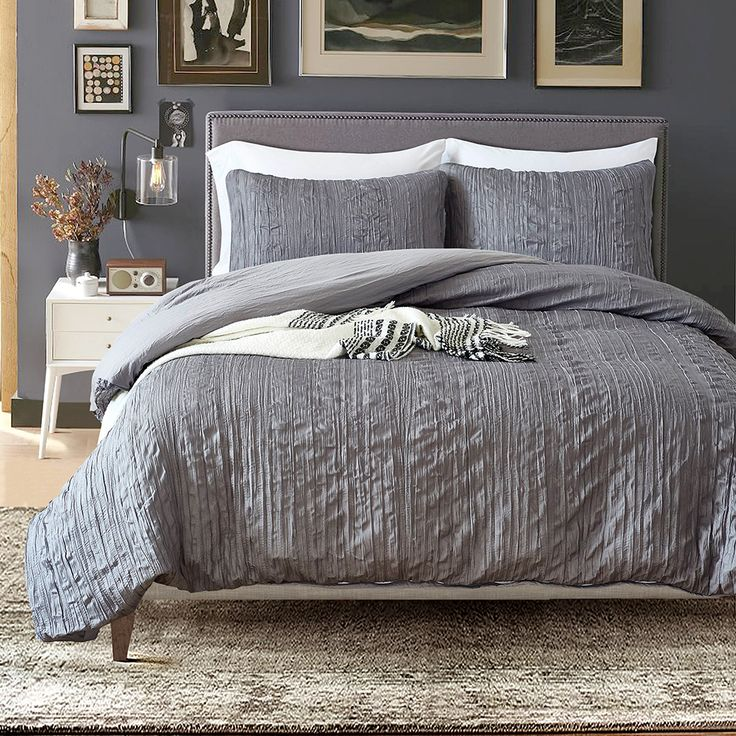 Cheap Bedding Sets, Buy Directly from China Suppliers:3pcs Grey Bedding Set Wrinkled Texture Soft Bedclothes Polyester Microfiber Duvet Cover Bedsheet 2pcs Pillowcases Set Queen Size