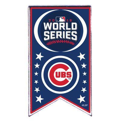 Chicago Cubs 2016 World Series Bound Banner Pin | MLBShop.com
