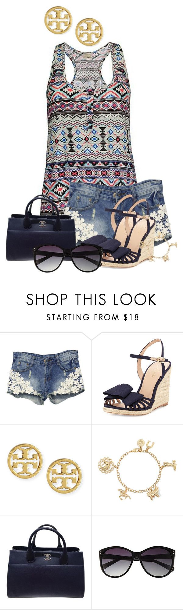 """""""The momentous occasion that will mark the start of my sorry death"""" by huntress-383 ❤ liked on Polyvore featuring WithChic, Kate Spade, Tory Burch, Liz Claiborne, Chanel and Vince Camuto"""