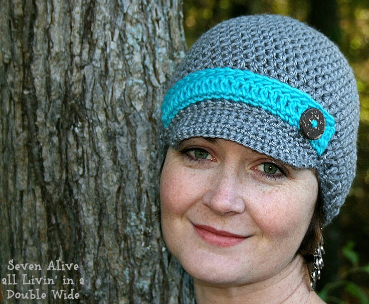 Free Knitting Pattern For Ladies Hat With Brim : 233 best images about Crochet - Hats - With Brim on ...