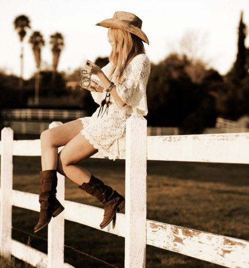 senior pic?: Cowgirl Boots, Senior Pictures, Country Girls, Senior Pics, Cowboys Boots, Country Life, Cowgirl Style, Lace Dresses, Country Outfits