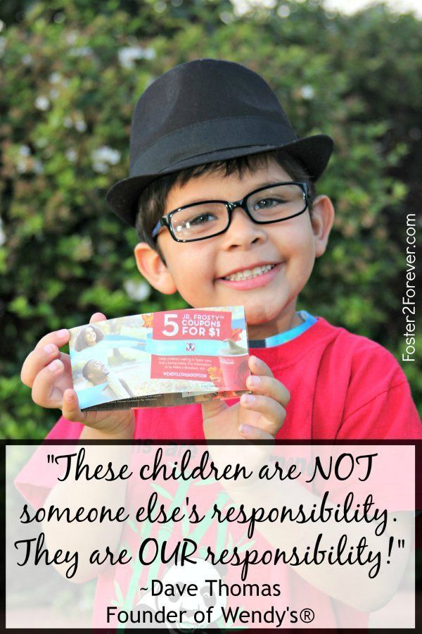 I love this adoption quote by Dave Thomas, founder of Wendys!  @DTFA helps find families for children in foster care. #adoptionsupport