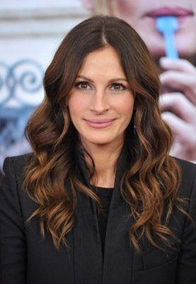 Julia Roberts - I think this darker brown with a hint of red is her best color.